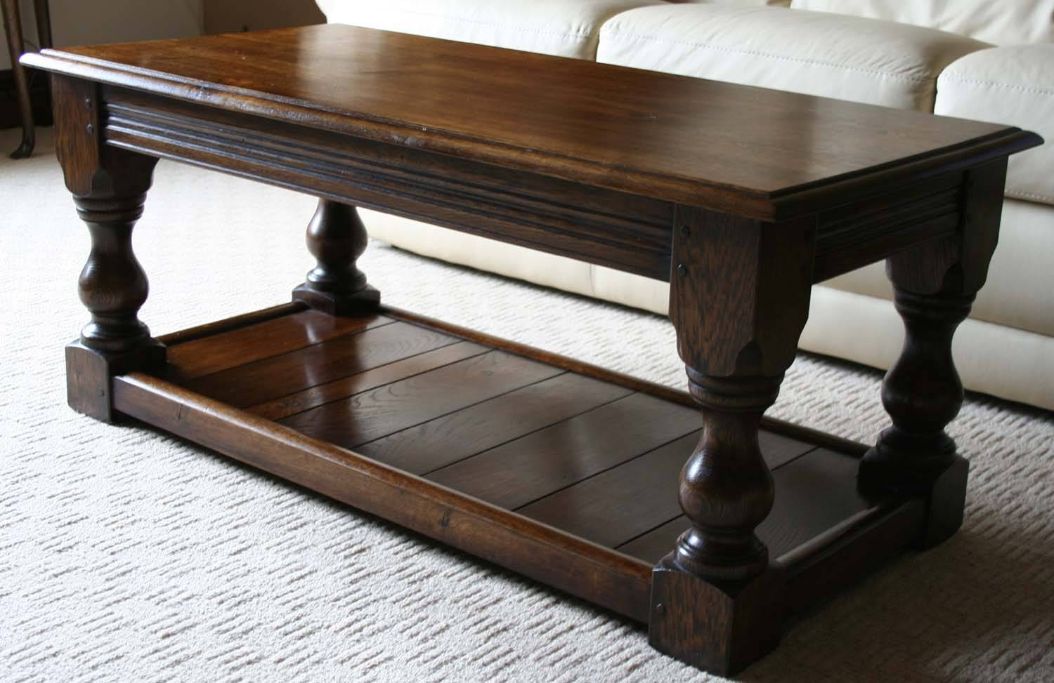 Coffee Table: Rustic Coffee And End Tables Amazing Plans Free Throughout Jacobean Coffee Tables (Image 6 of 15)