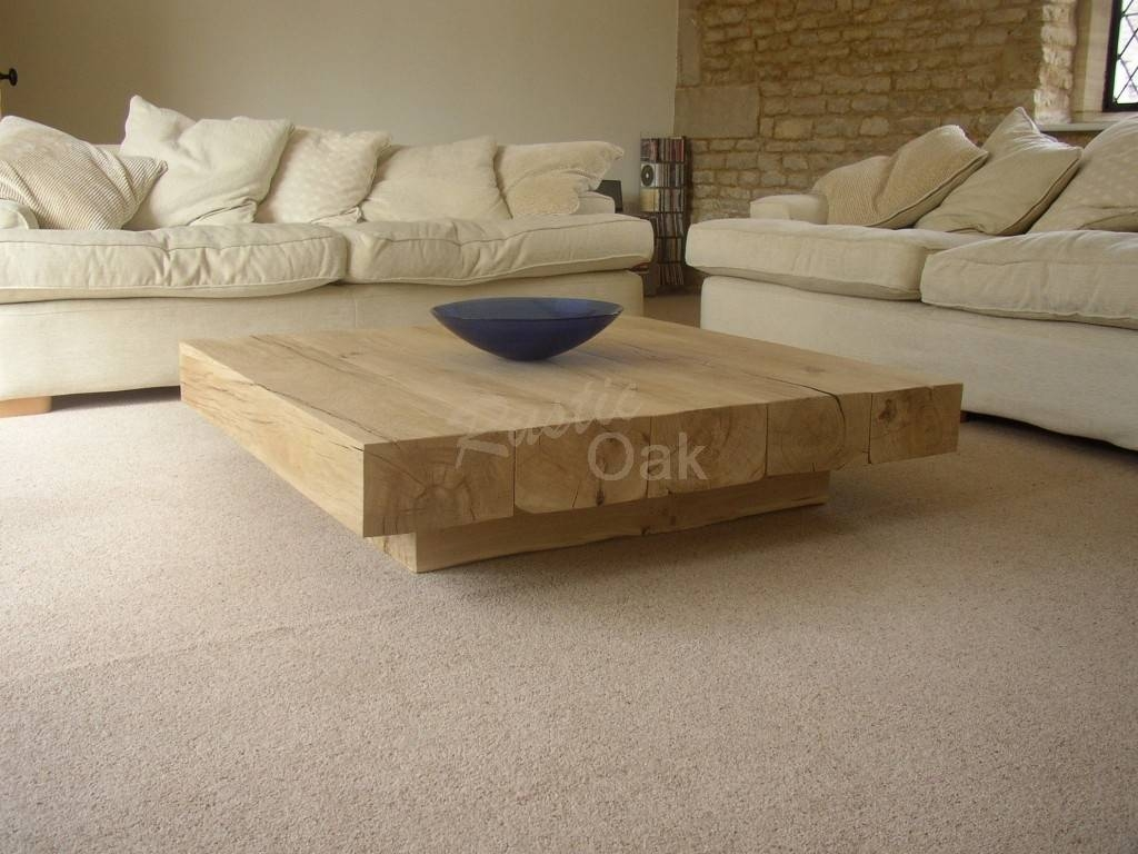 Coffee Table Solid Wood / Coffee Tables / Thippo For Large Solid Wood Coffee Tables (View 11 of 15)