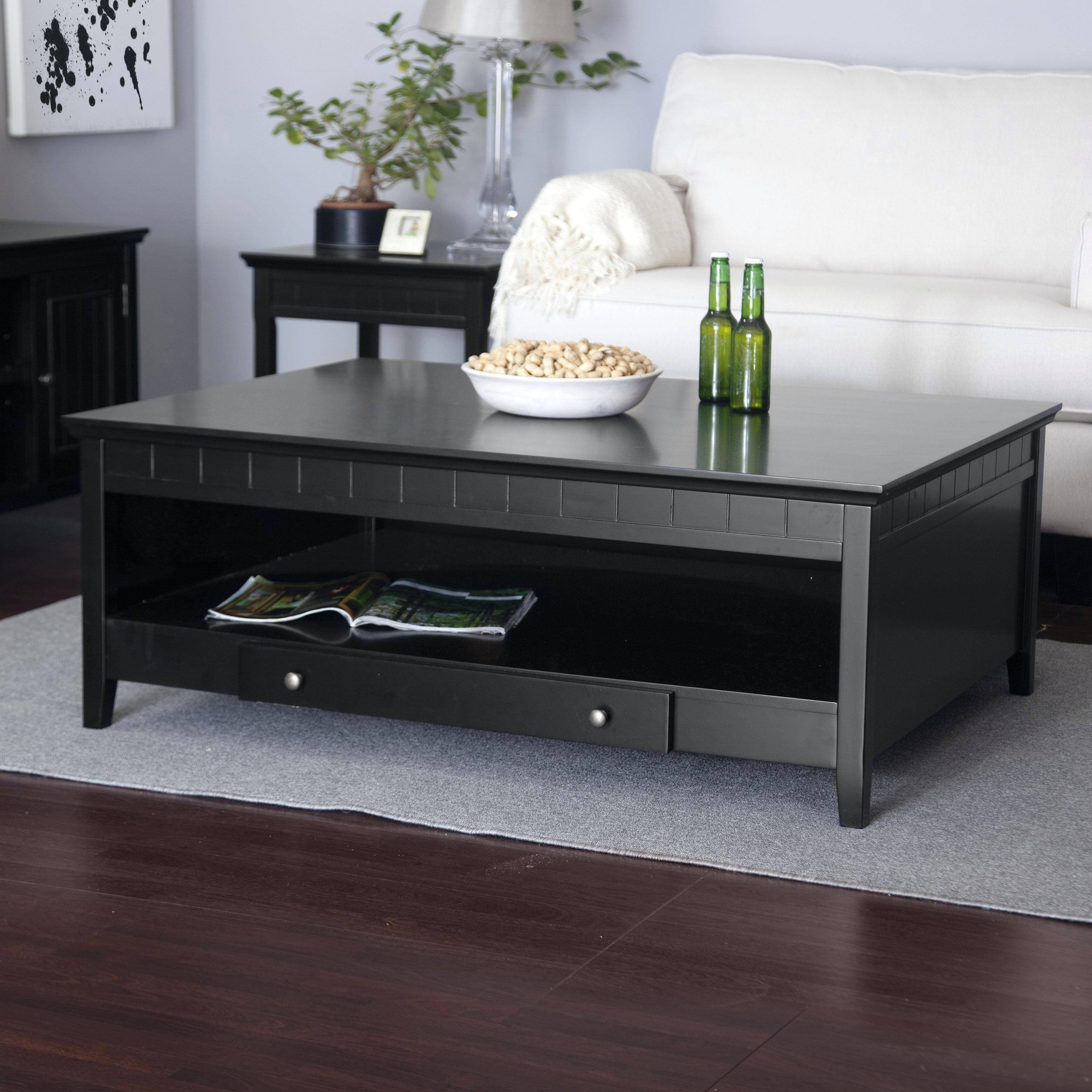 Coffee Table Square Coffee Table With Storage Drawers Drawer And inside Square Storage Coffee Table (Image 3 of 15)