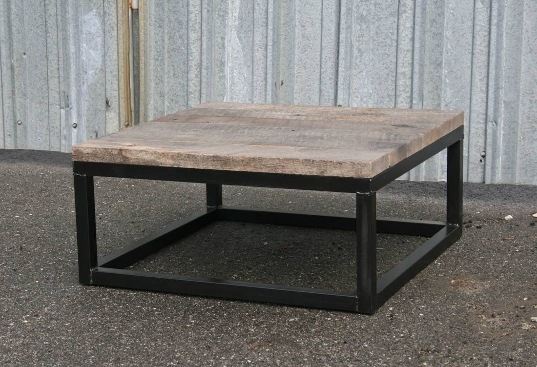 Coffee Table. Square Reclaimed Wood Coffee Table - Home Interior intended for Square Wooden Coffee Table (Image 4 of 15)