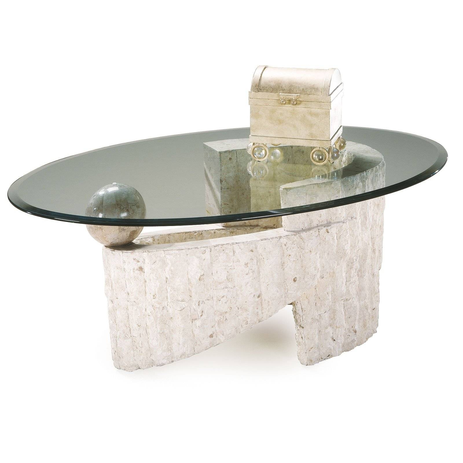 Coffee Table: Stone And Glass Coffee Tables Design Ideas White throughout Glass and Stone Coffee Table (Image 4 of 15)