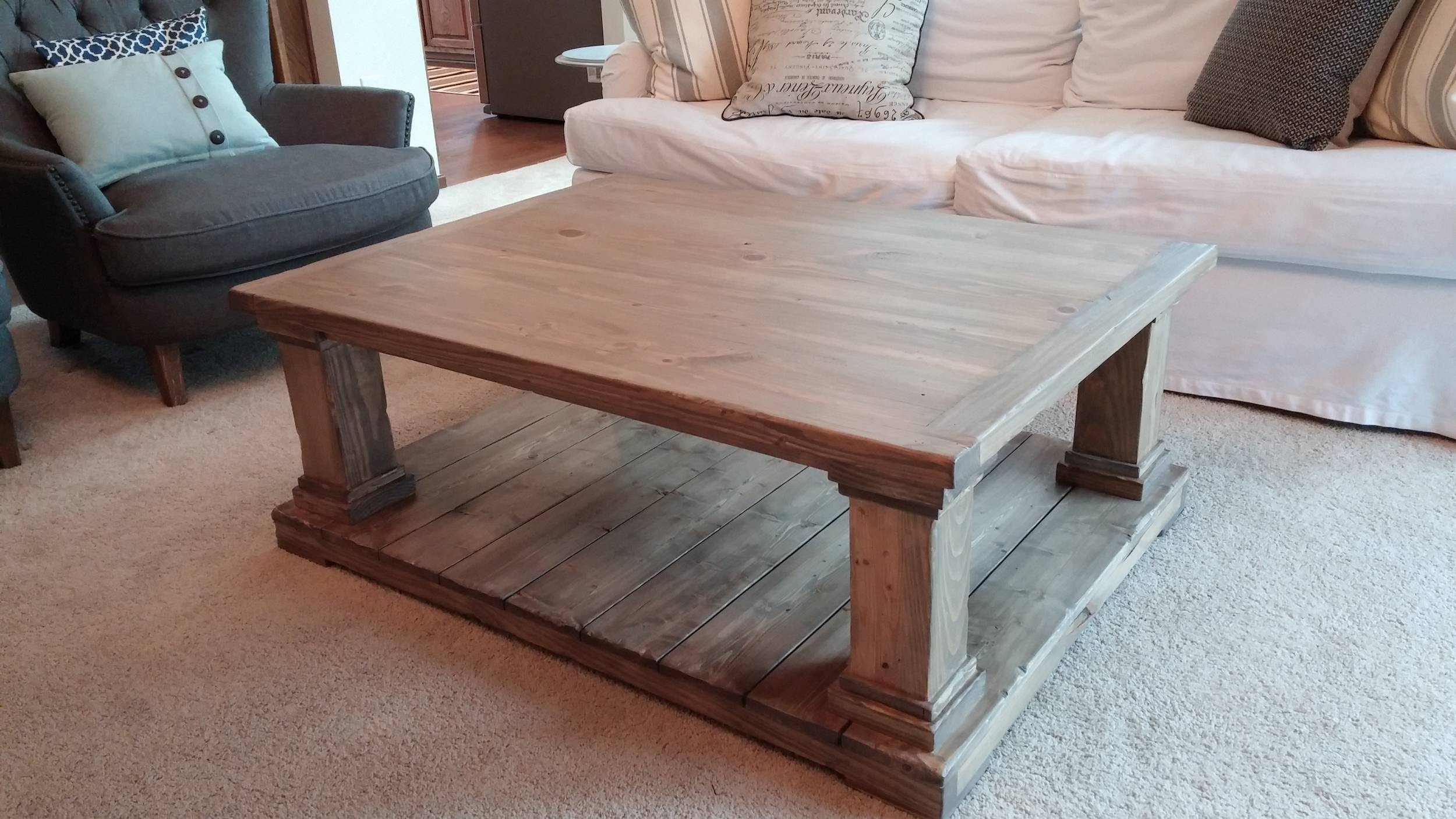 Coffee Table: Stunning Farmhouse Coffee Table Design Ideas Rustic within Farmhouse Coffee Tables (Image 4 of 15)