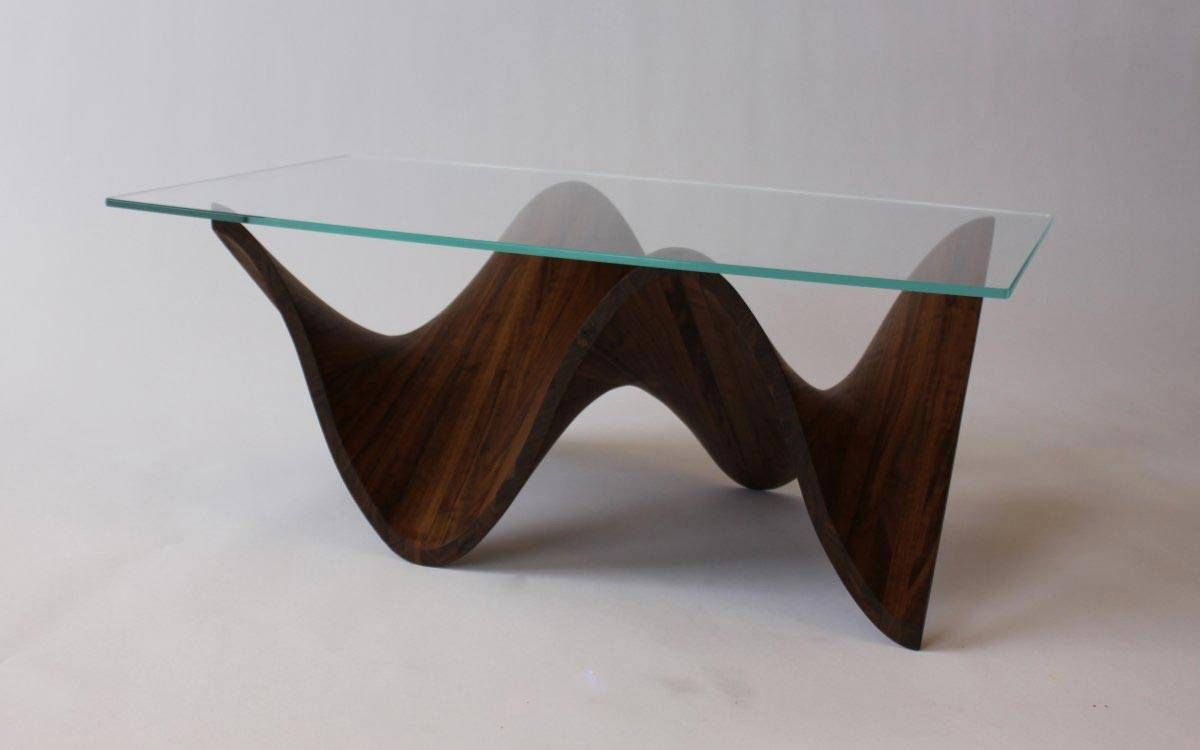 Coffee Table: Surprising Glass And Wood Coffee Table Designs End regarding Glass and Wood Coffee Tables (Image 3 of 15)
