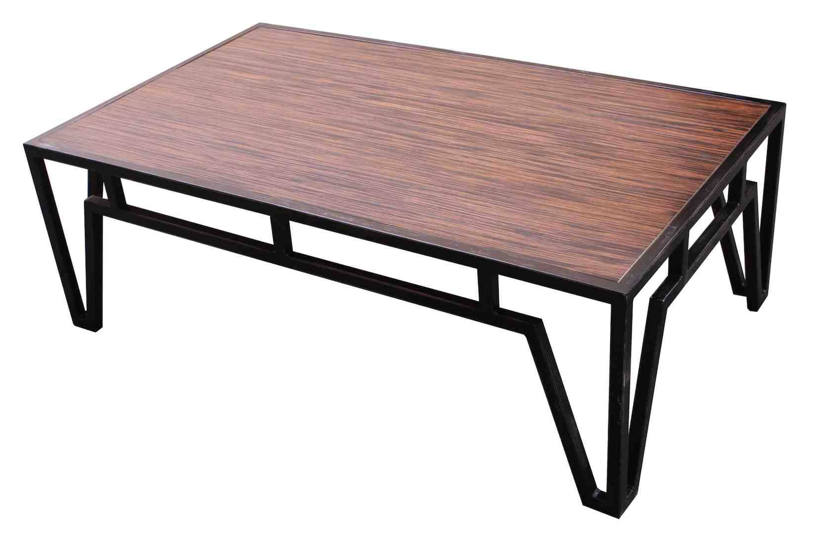 Coffee Table: Surprising Wood Metal Coffee Table Ideas Round Wood inside Wood And Steel Coffee Table (Image 2 of 15)
