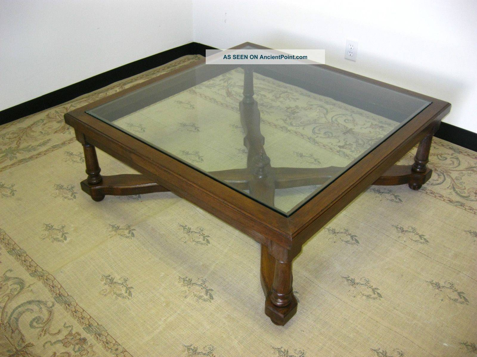 Coffee Table : Wood With Glass Top Coffee Table Is Crafted From within Solid Glass Coffee Table (Image 2 of 15)