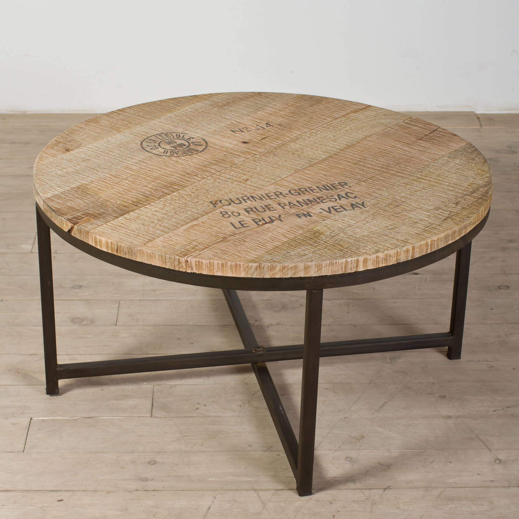 Coffee Tables Ideas: Awesome Round Wood And Metal Coffee Table Within Round Wood And Glass Coffee Tables (View 15 of 15)