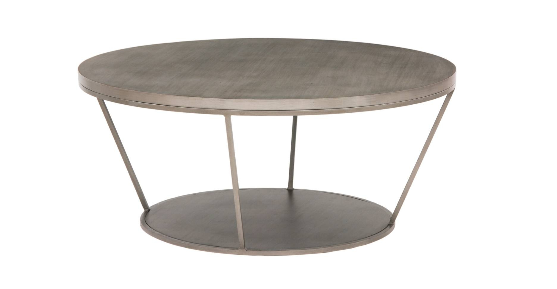 Coffee Tables Ideas: Best Round Metal Coffee Table Base Large within Round Metal Coffee Tables (Image 5 of 15)