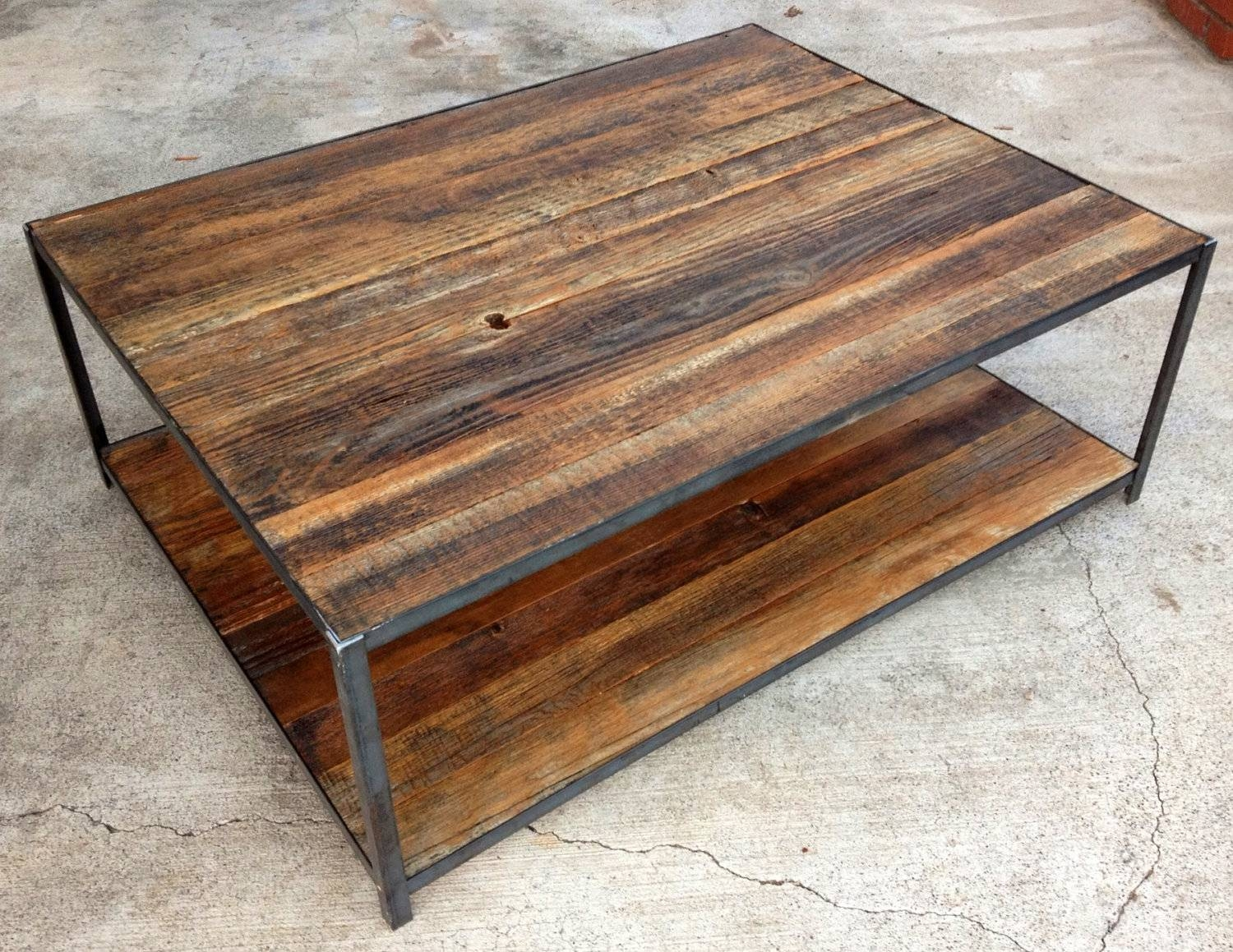 Coffee Tables Ideas: Reclaimed Wood Coffee Table Round Rustic Wood for Handmade Wooden Coffee Tables (Image 2 of 15)