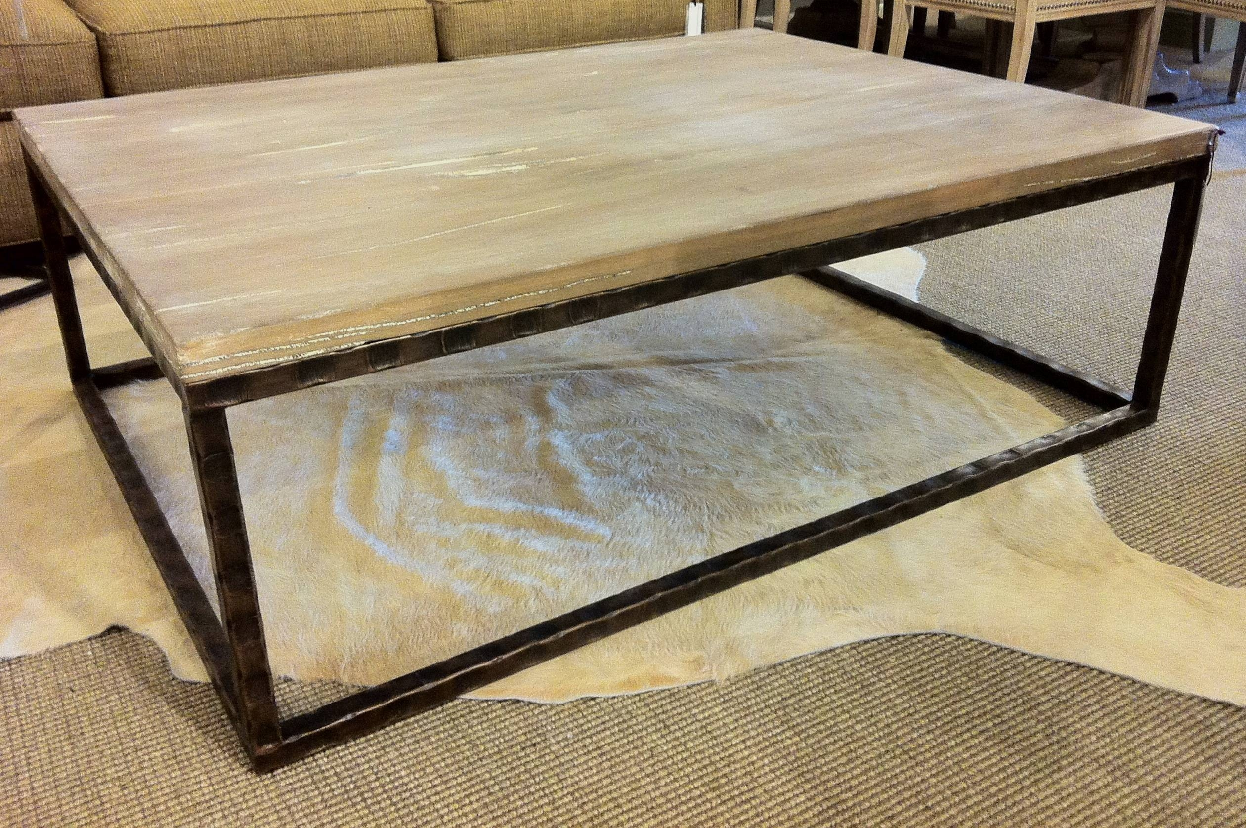 Coffee Tables Ideas: Strong Materials Coffee Table Metal Base Best regarding Large Wood Coffee Tables (Image 4 of 15)