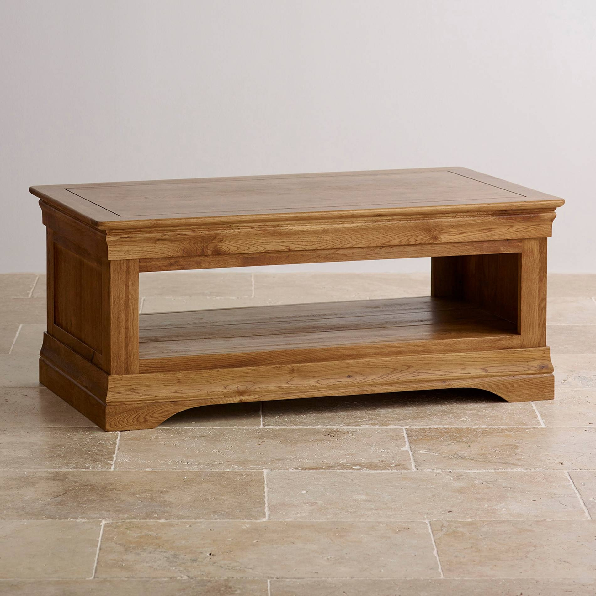 Coffee Tables: New Oak Coffee Tables Designs Rustic Oak Coffee throughout Solid Oak Coffee Table With Storage (Image 2 of 15)