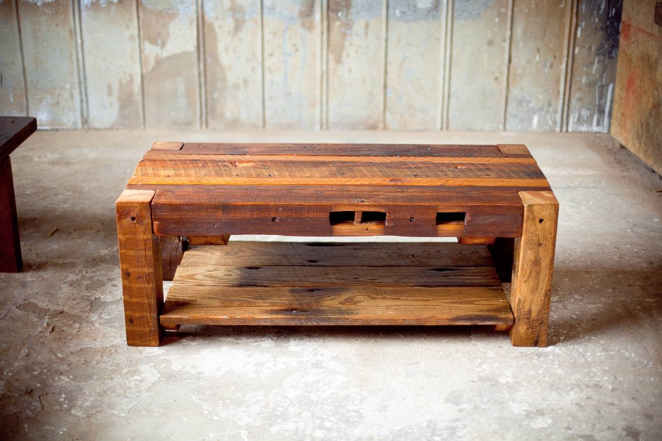 Coffee Tables | Reclaimed Wood | Farm Table | Woodworking | Athens inside Wooden Coffee Tables (Image 4 of 15)