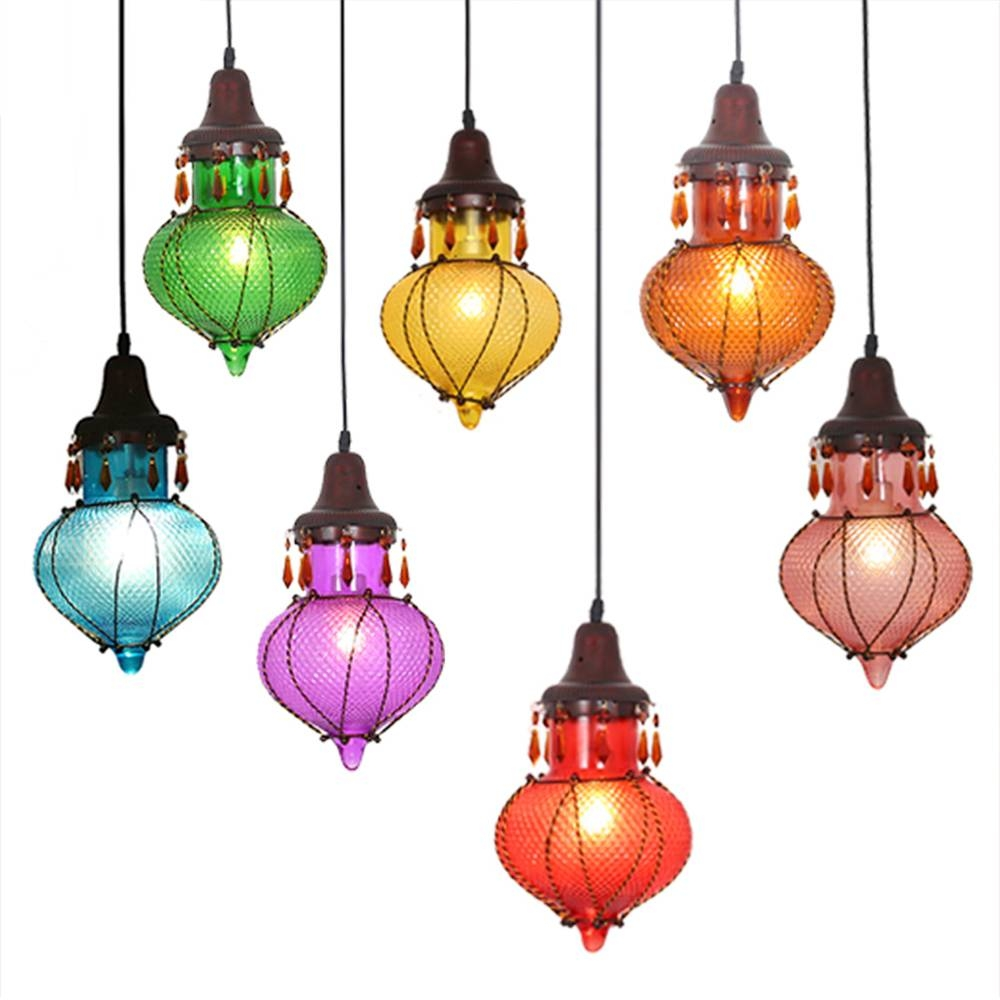 Colored Glass Pendant Lights – Aneilve pertaining to Colored Glass Pendant Lights (Image 5 of 15)