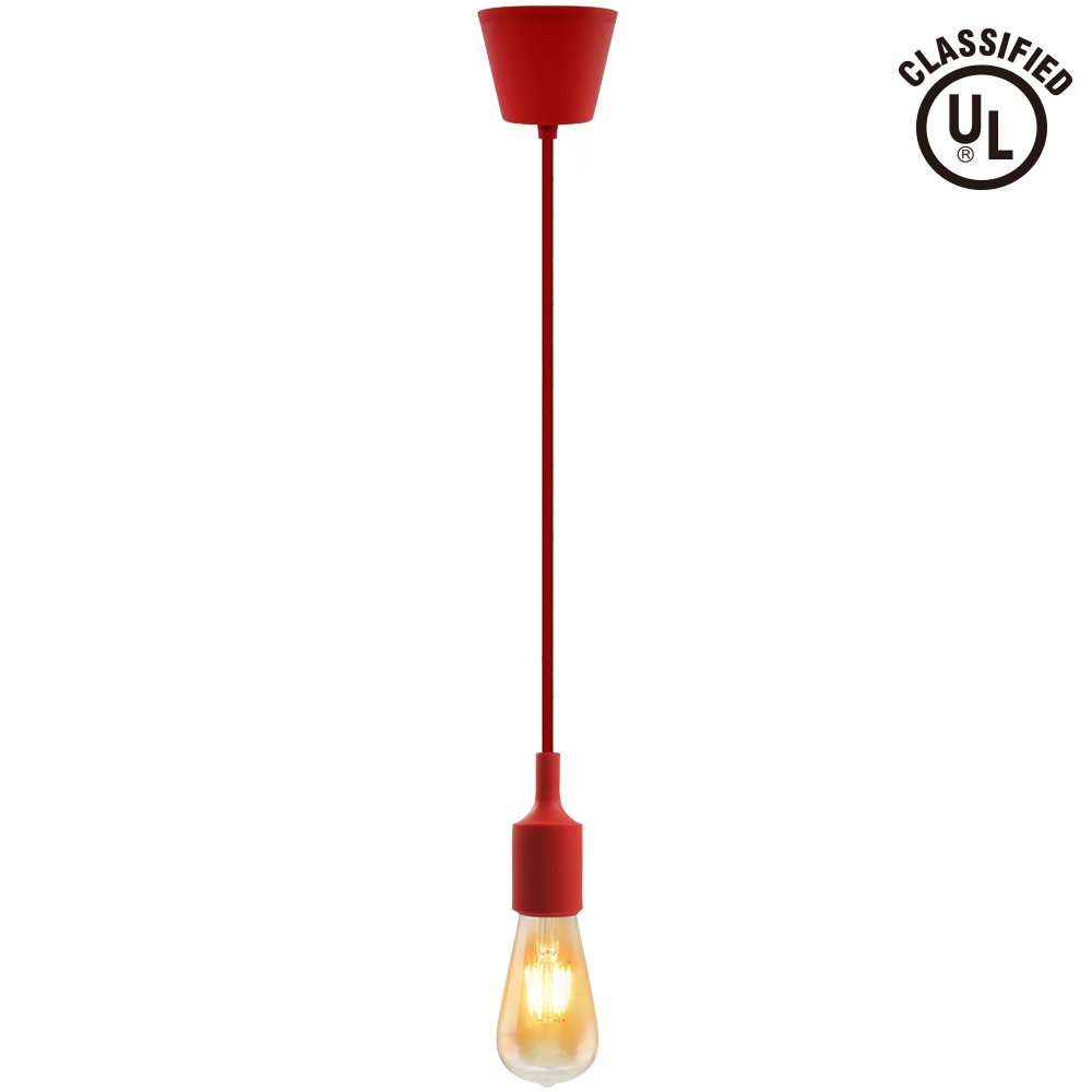 Colorful Pendant Light Cord – Diy Pendant Lamp Holder – Torchstar Pertaining To Coloured Cord Pendant Lights (View 2 of 15)