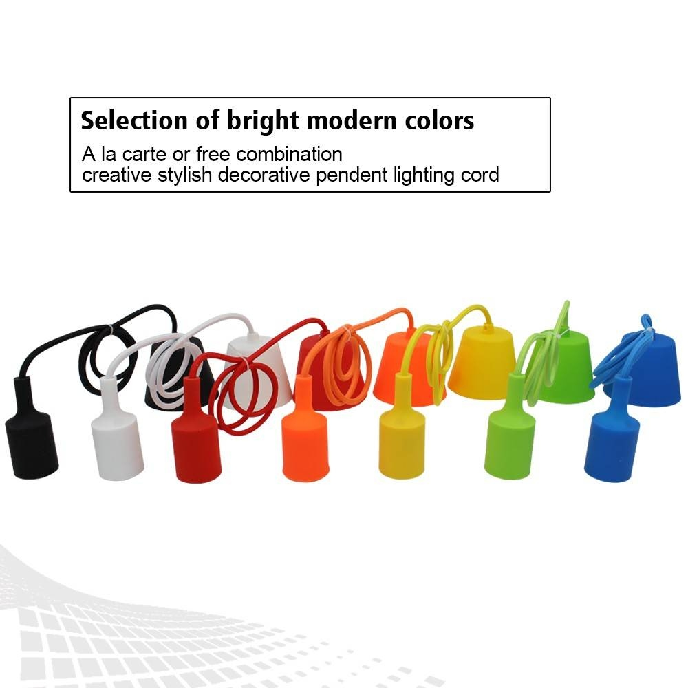 Colorful Pendant Light Cord - Diy Pendant Lamp Holder - Torchstar with regard to Pendant Lights With Coloured Cord (Image 6 of 15)