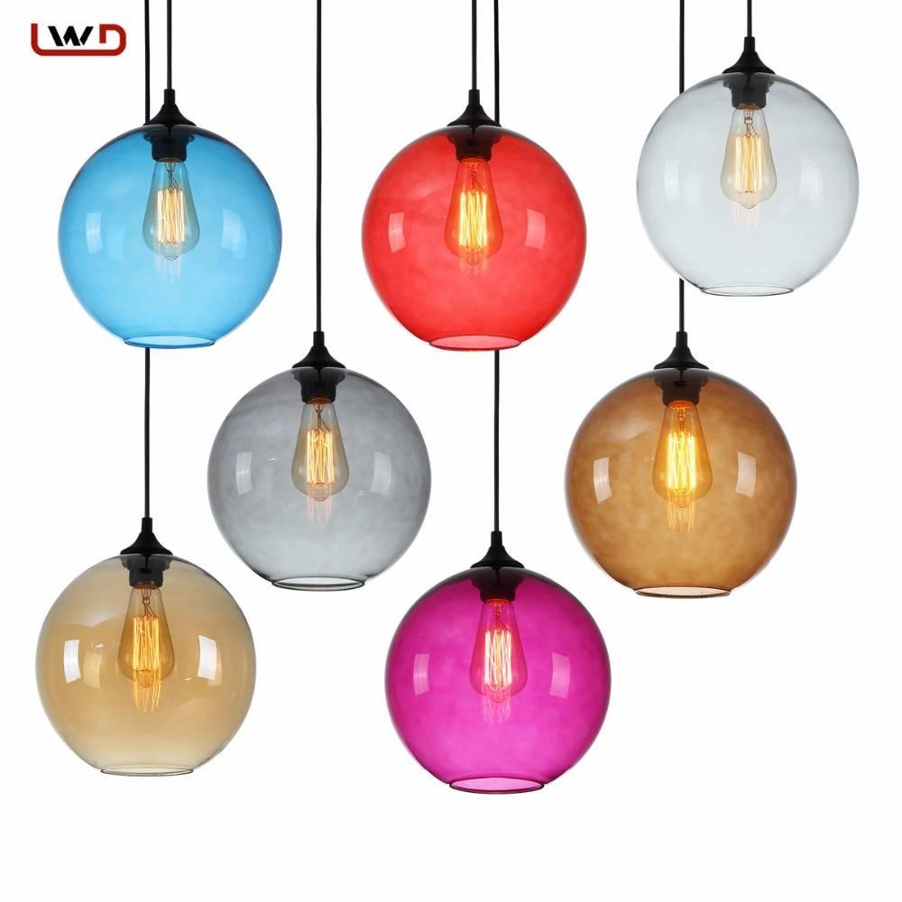Coloured Glass Light Promotion-Shop For Promotional Coloured Glass intended for Coloured Glass Pendant Lights (Image 4 of 15)