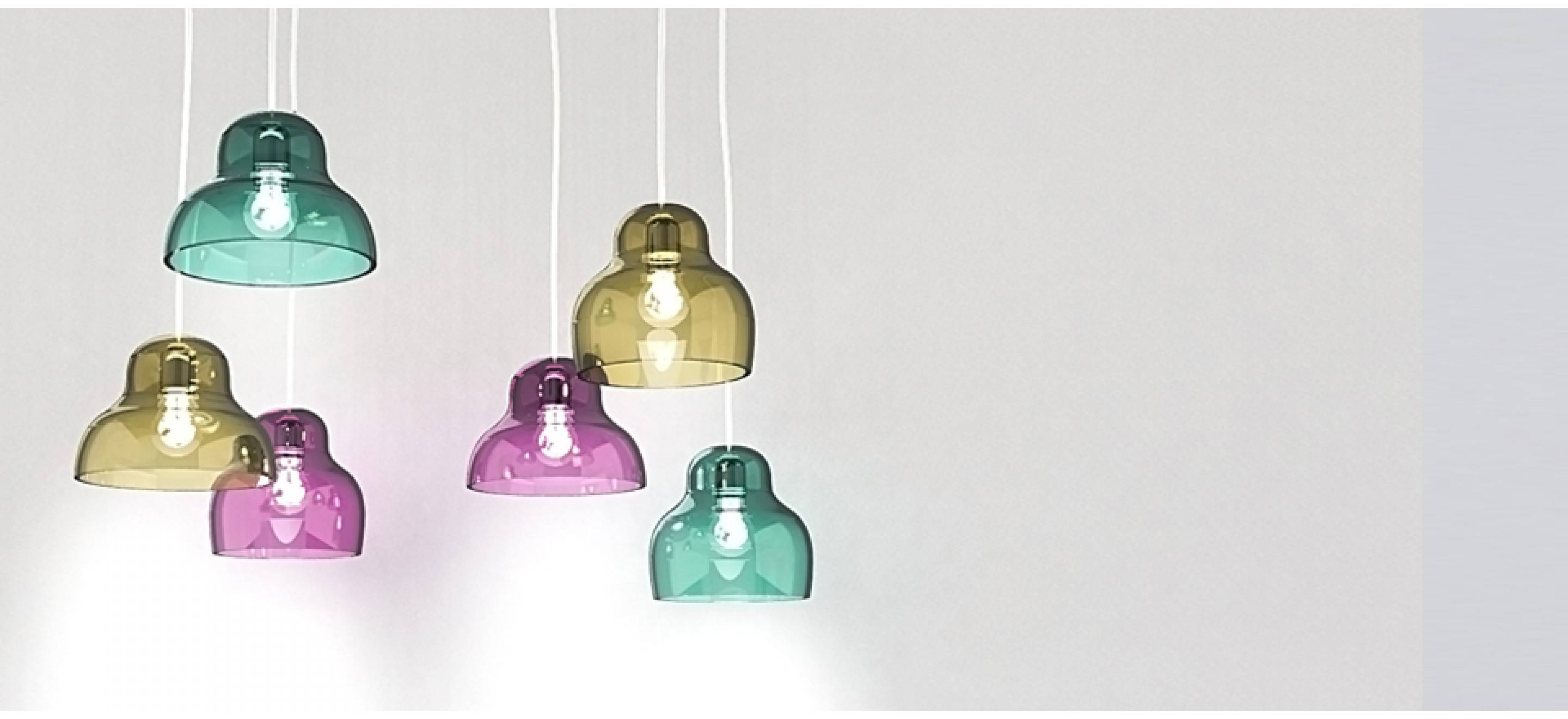 Coloured Glass Pendant Light | Innermost Ceiling Light pertaining to Coloured Glass Pendants (Image 7 of 15)