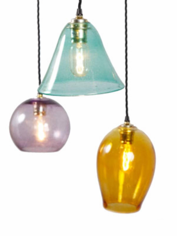 Popular Photo of Coloured Glass Pendant Light