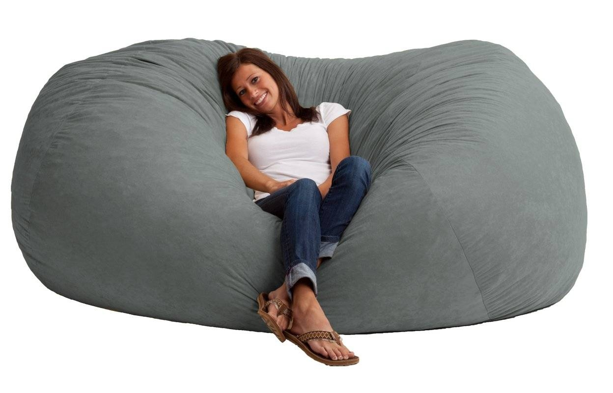 Comfort Research Fuf Bean Bag Sofa & Reviews | Wayfair pertaining to Bean Bag Sofas and Chairs (Image 9 of 15)