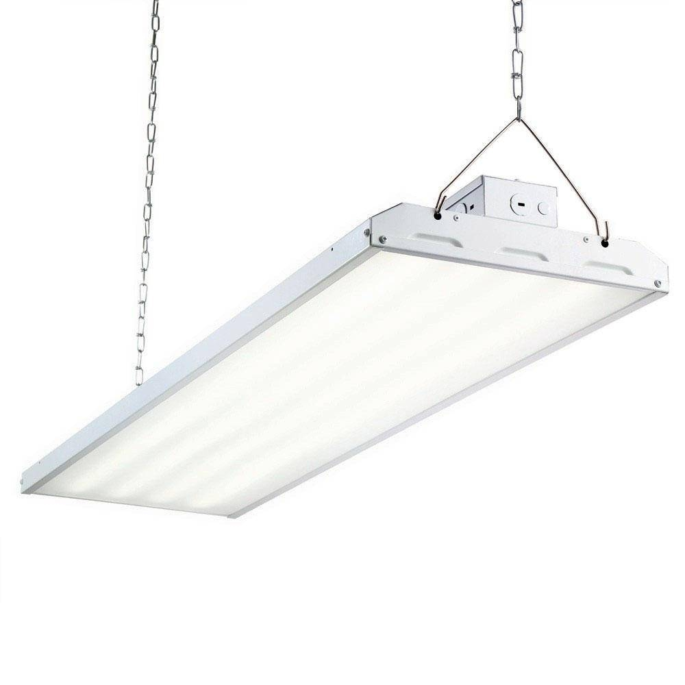 Commercial Electric 4 Ft. 1-Lamp 30-Watt White Integrated Led Shop within Commercial Hanging Lights Fixtures (Image 3 of 15)