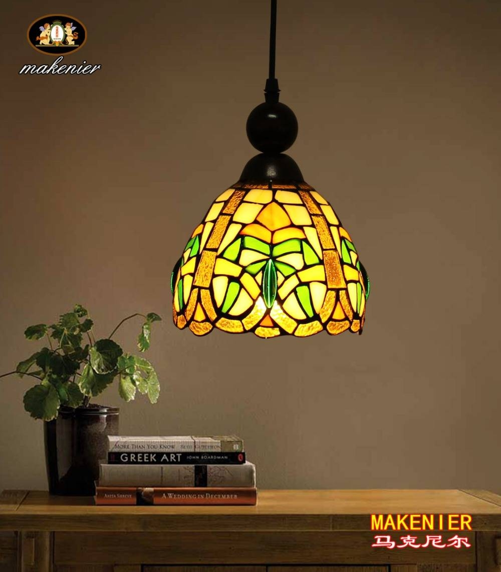 Compare Prices On Stained Glass Lamp Patterns Online Shopping/buy Throughout Stained Glass Pendant Lights Patterns (View 8 of 15)