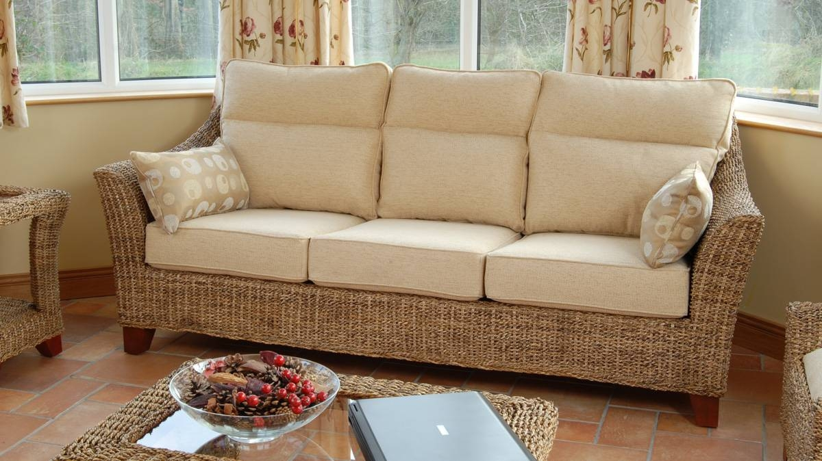 Conservatory Sofa | Conservatory Sofas | Athlone Sofa | Three with Cane Sofas (Image 7 of 15)