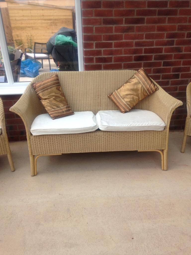 Conservatory Two Seater Cane Sofa And Two Chairs | In Wigston with regard to Cane Sofas (Image 8 of 15)