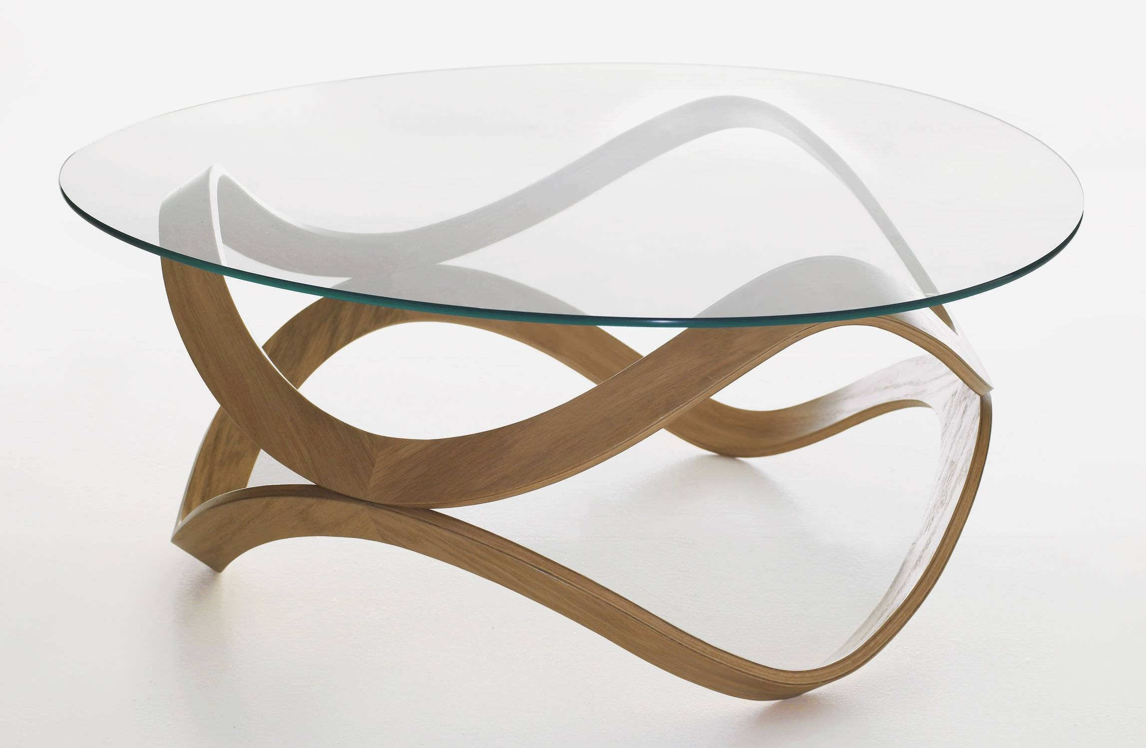 Contemporary Coffee Table / Glass / Oak / Ash - Newtond.sunaga with regard to Oak And Glass Coffee Table (Image 6 of 15)