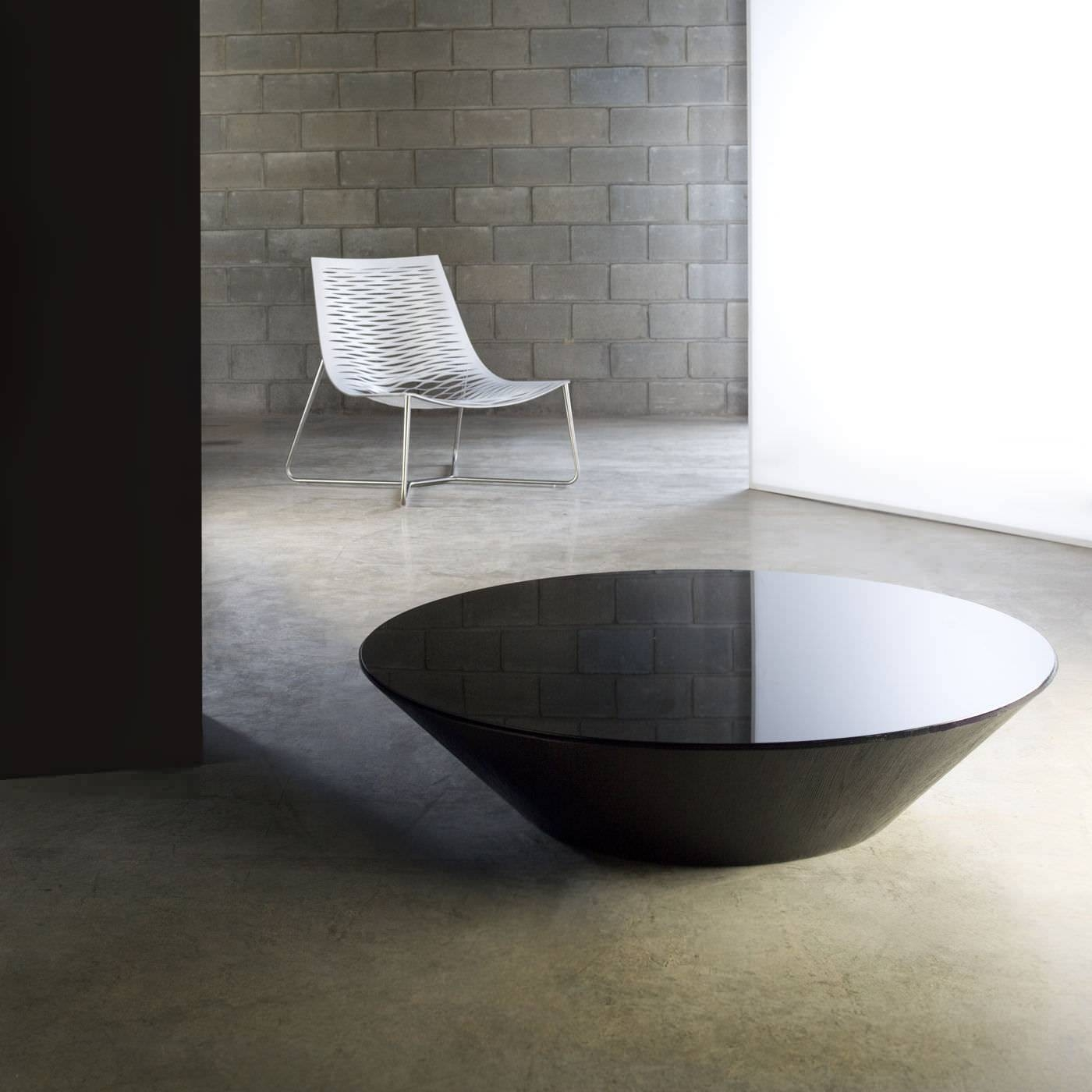 Contemporary Coffee Table / Glass / Round – Dorset – Modloft In Contemporary Round Coffee Tables (View 4 of 15)