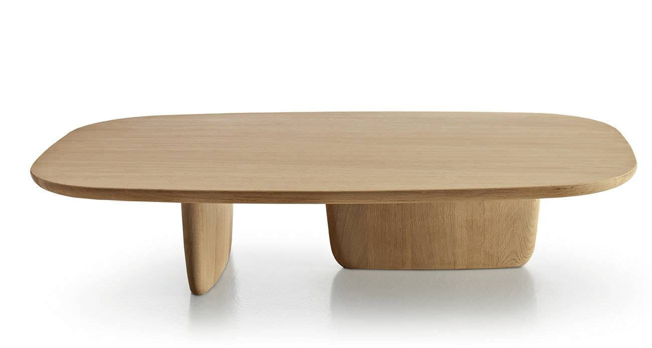 Contemporary Coffee Table / Oak / Oval /edward Barber & Jay in Contemporary Oak Coffee Table (Image 6 of 15)