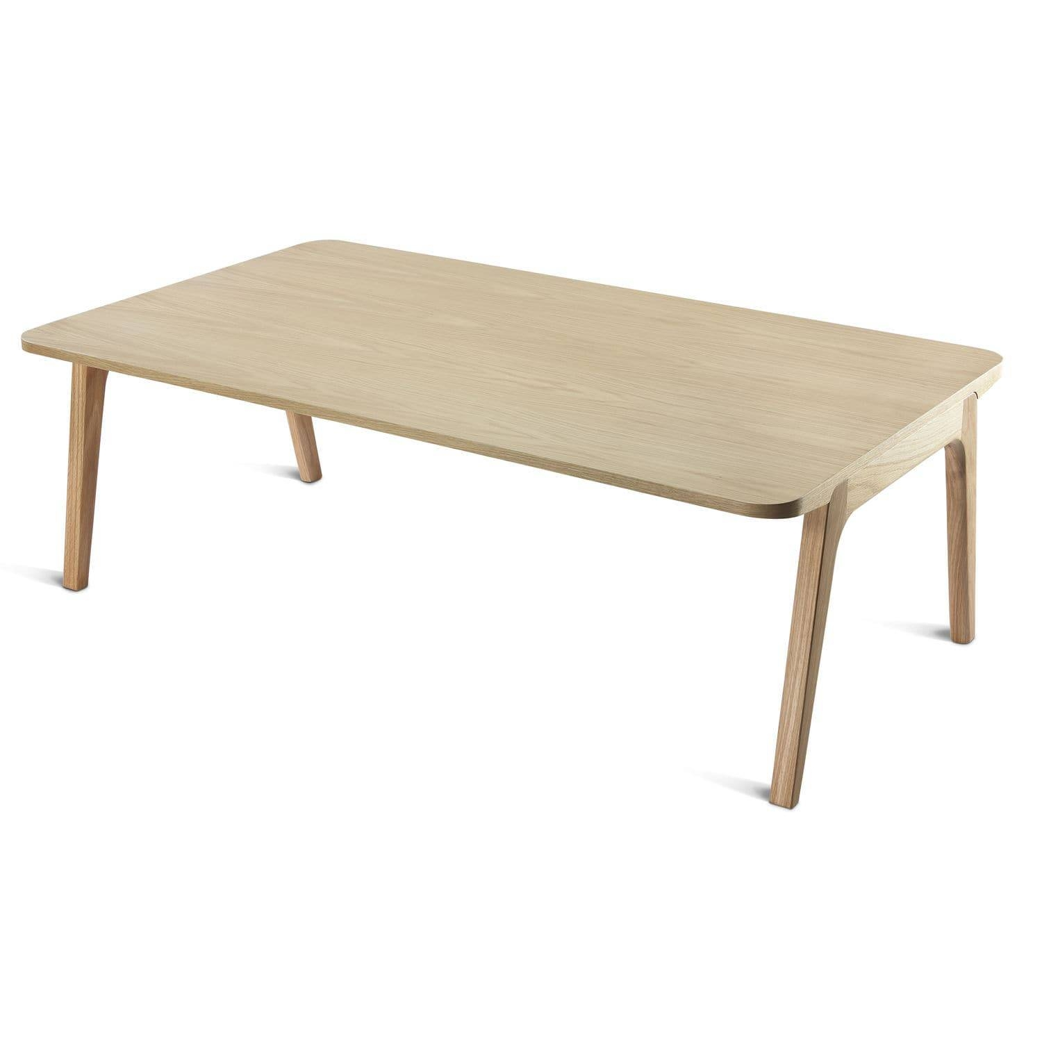 Contemporary Coffee Table / Oak / Rectangular / For Public with Contemporary Oak Coffee Table (Image 7 of 15)