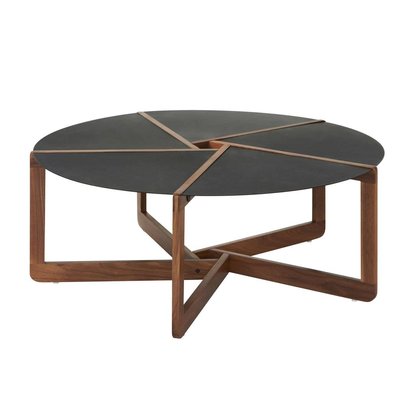 Contemporary Coffee Table / Walnut / Solid Wood / Ash – Pi – Blu Dot Within Contemporary Round Coffee Tables (View 5 of 15)