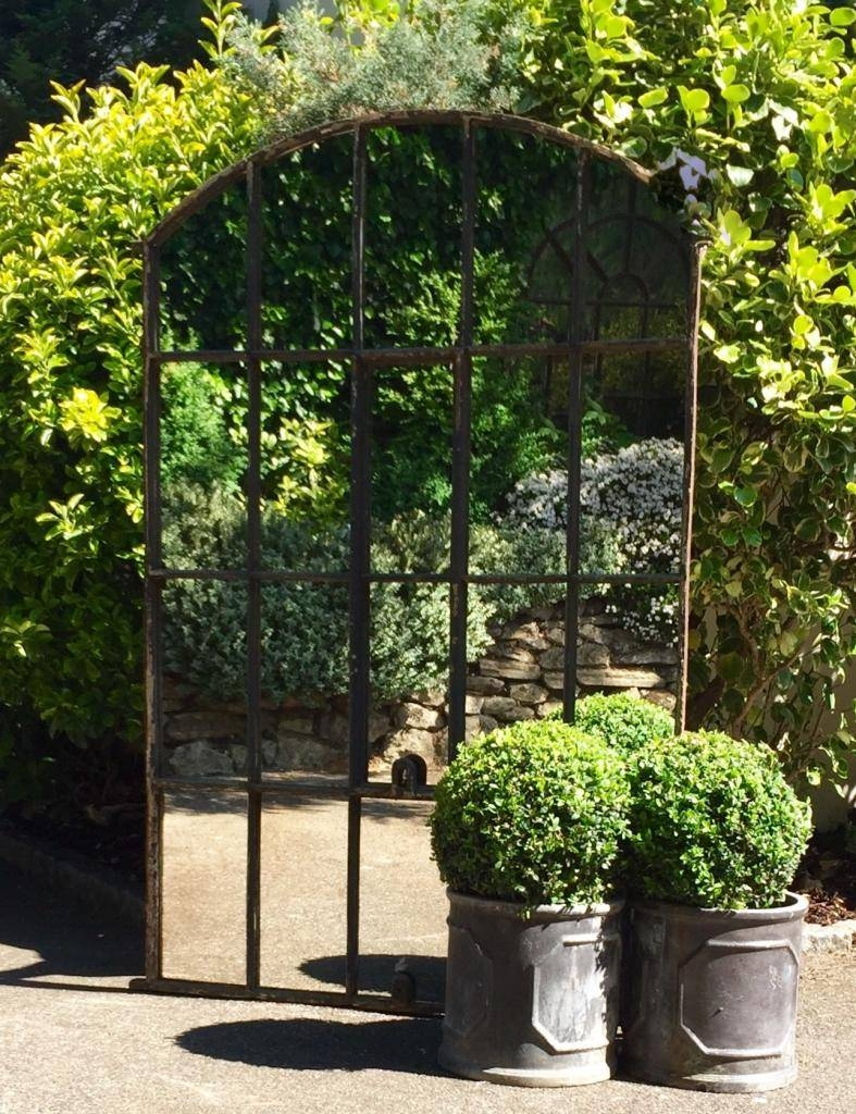 Contemporary Garden Mirror Large Throughout Decorating Intended For Large Garden Mirrors (View 7 of 15)