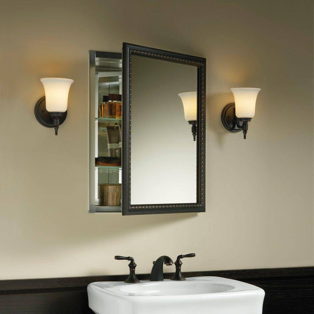 Contemporary Medicine Cabinets Medical Wall Cabinets Wooden Mirror Inside Black Cabinet Mirrors (View 7 of 15)
