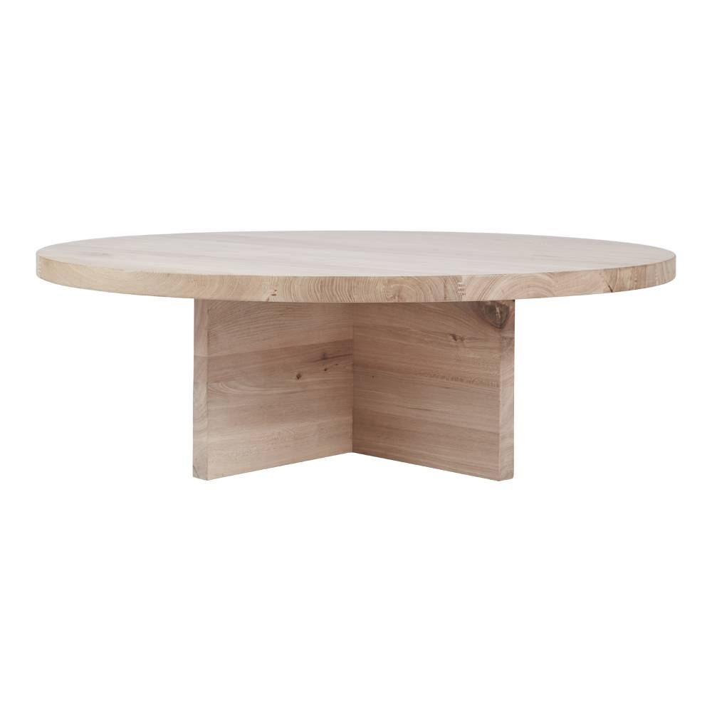 Contemporary Round Oak Coffee Table - Designer Accent Tables within Contemporary Oak Coffee Table (Image 9 of 15)