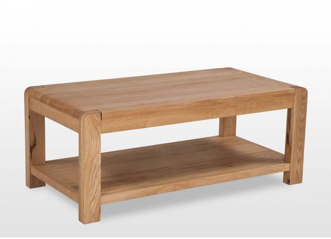 Contemporary Solid Oak Coffee Table - Milton pertaining to Contemporary Oak Coffee Table (Image 10 of 15)
