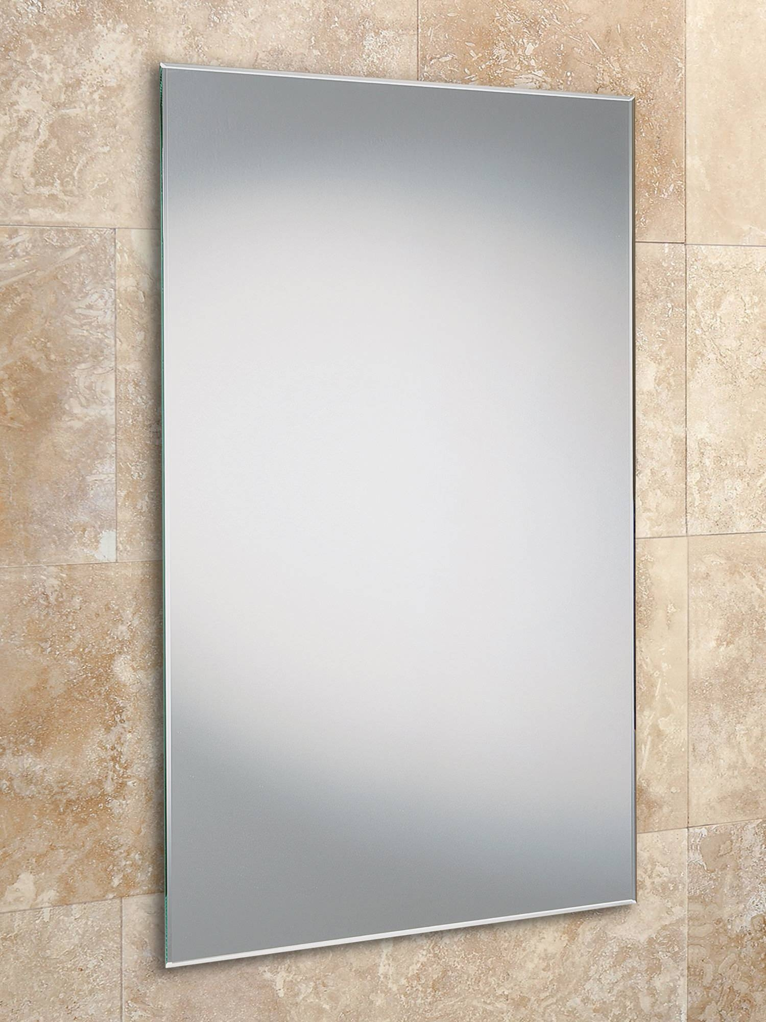 Contemporary Standard Mirrors For Bathrooms - Qs Supplies regarding Bevel Edged Mirrors (Image 6 of 15)
