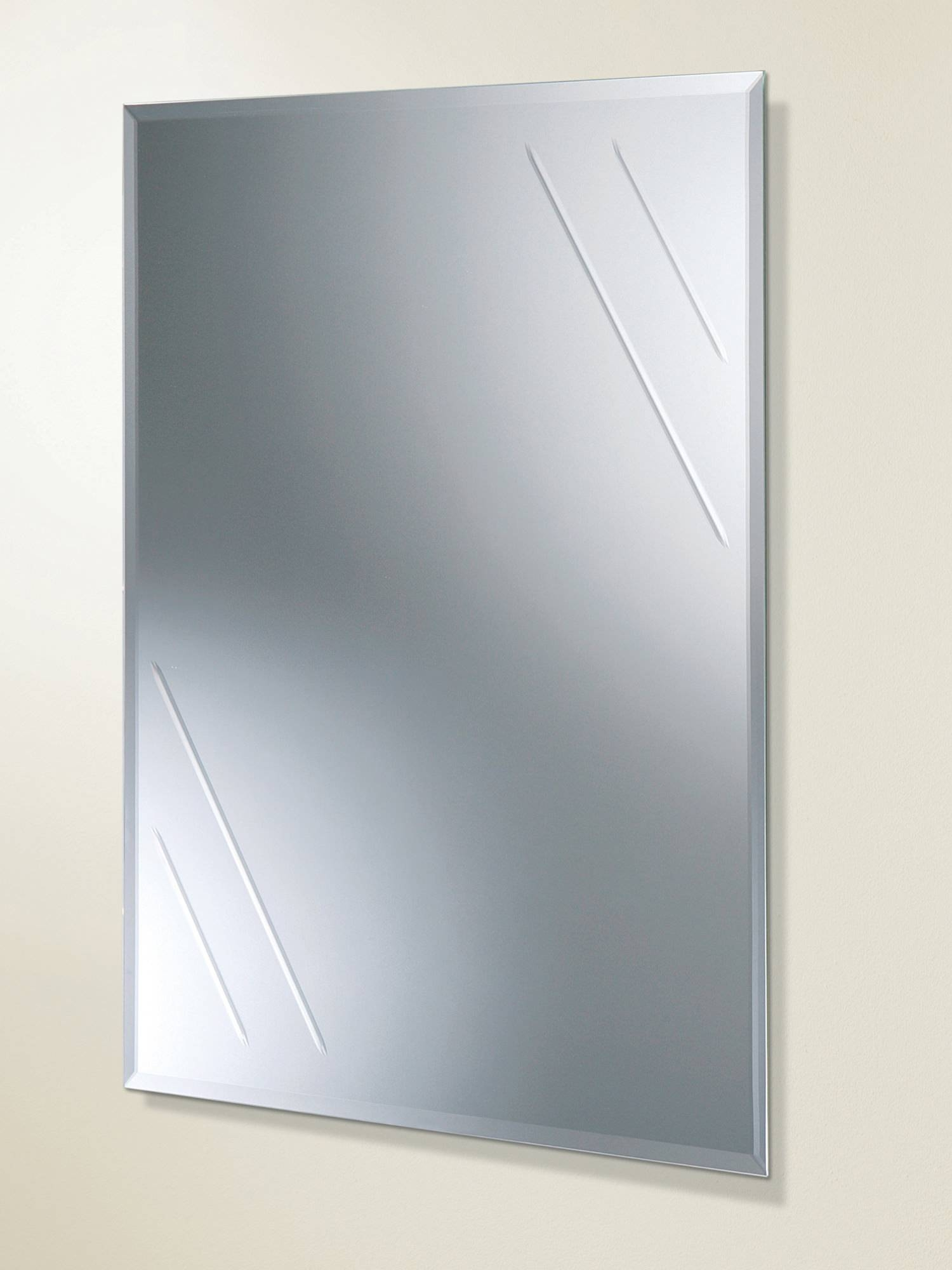 Contemporary Standard Mirrors For Bathrooms - Qs Supplies regarding Bevel Edged Mirrors (Image 5 of 15)