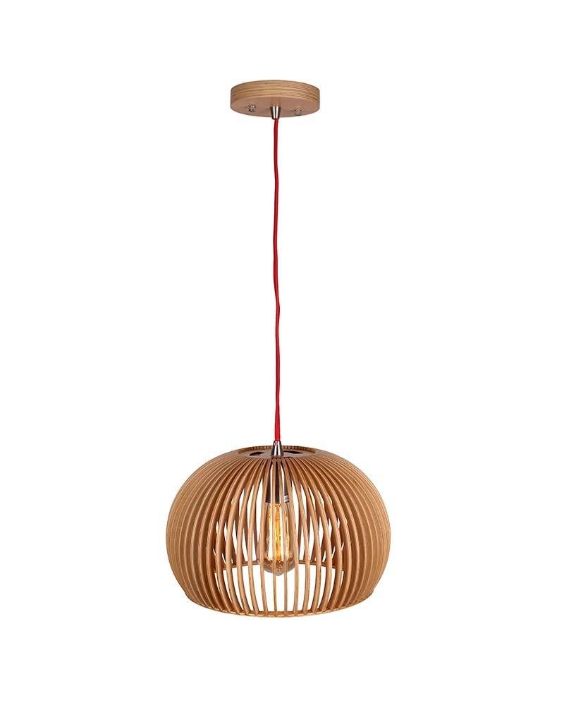 Contemporary Style Bentwood Bowl Shape Pendant Light - Parrotuncle intended for Bentwood Lighting (Image 4 of 15)