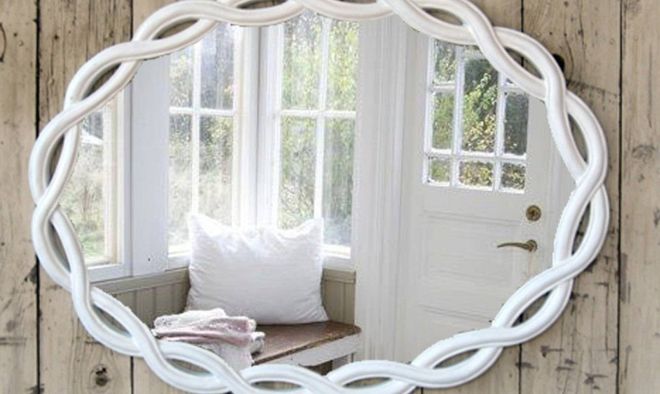 Contemporary Tags : Shabby Chic Mirror White Square Wall Mirror for White Large Shabby Chic Mirrors (Image 4 of 15)