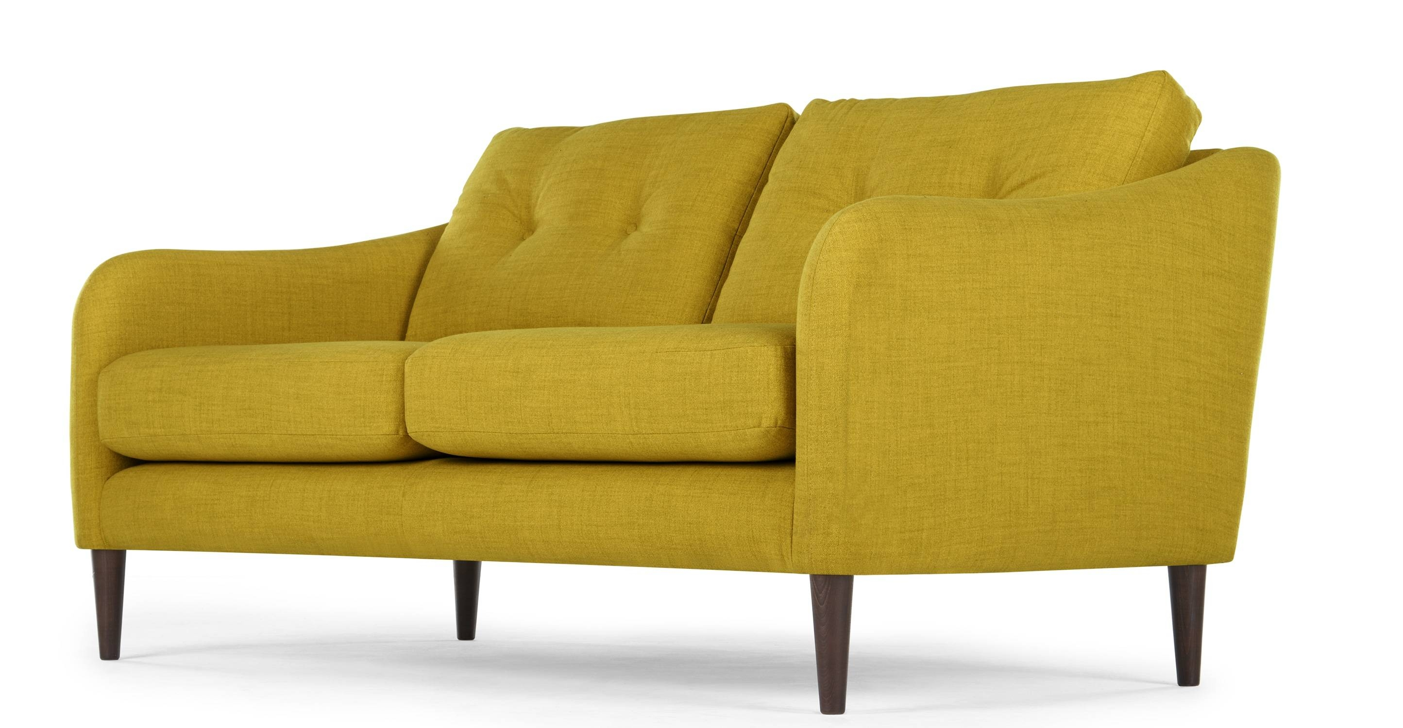 Contentterrence Conran Alban 2 Seater Sofa, Chartreuse | Made with regard to Chartreuse Sofas (Image 7 of 15)