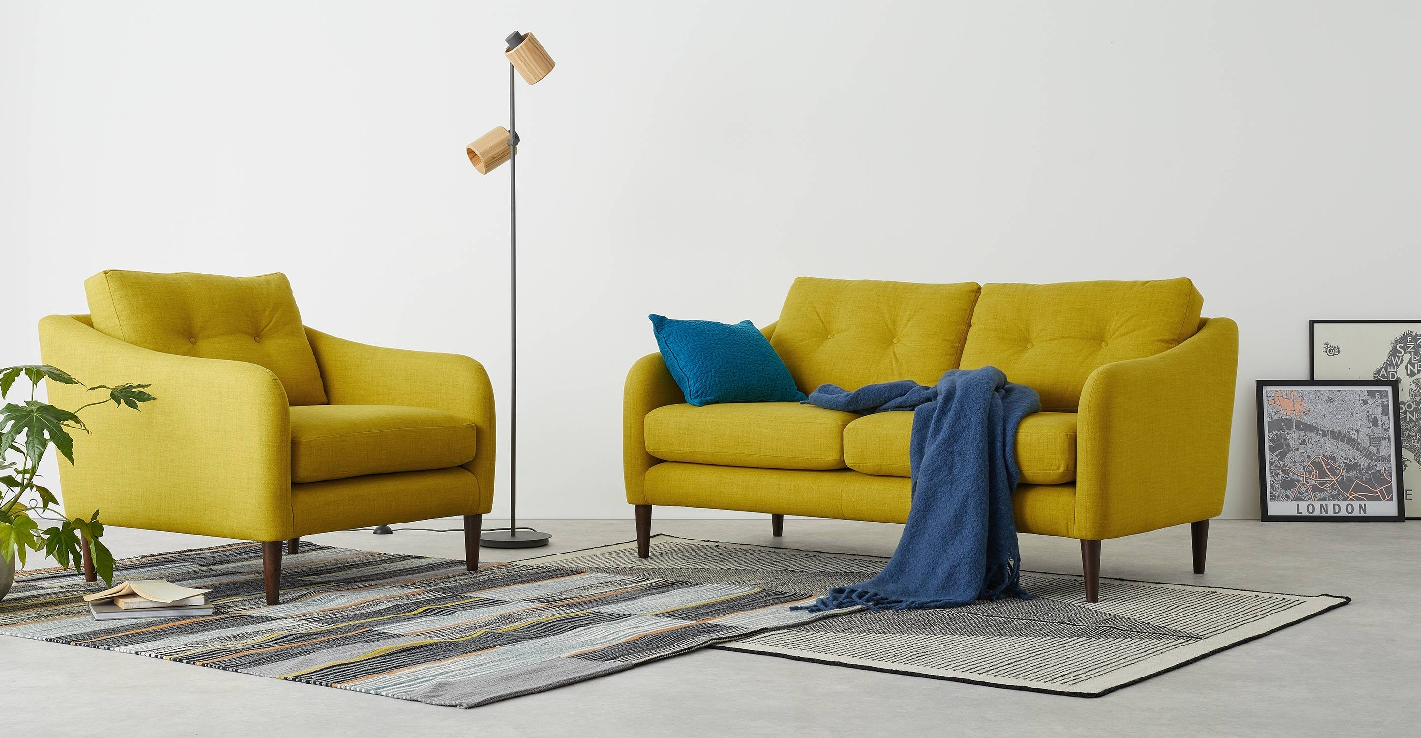 Contentterrence Conran Alban 2 Seater Sofa, Chartreuse | Made within Chartreuse Sofas (Image 8 of 15)