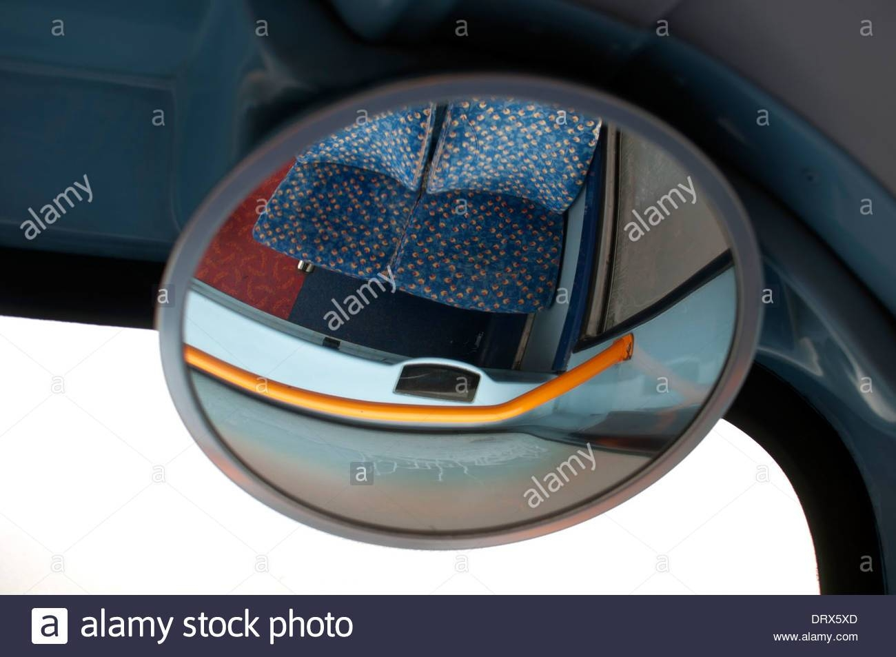 Convex Mirror On A Double Decker Bus Stock Photo, Royalty Free regarding Convex Mirrors (Image 2 of 15)