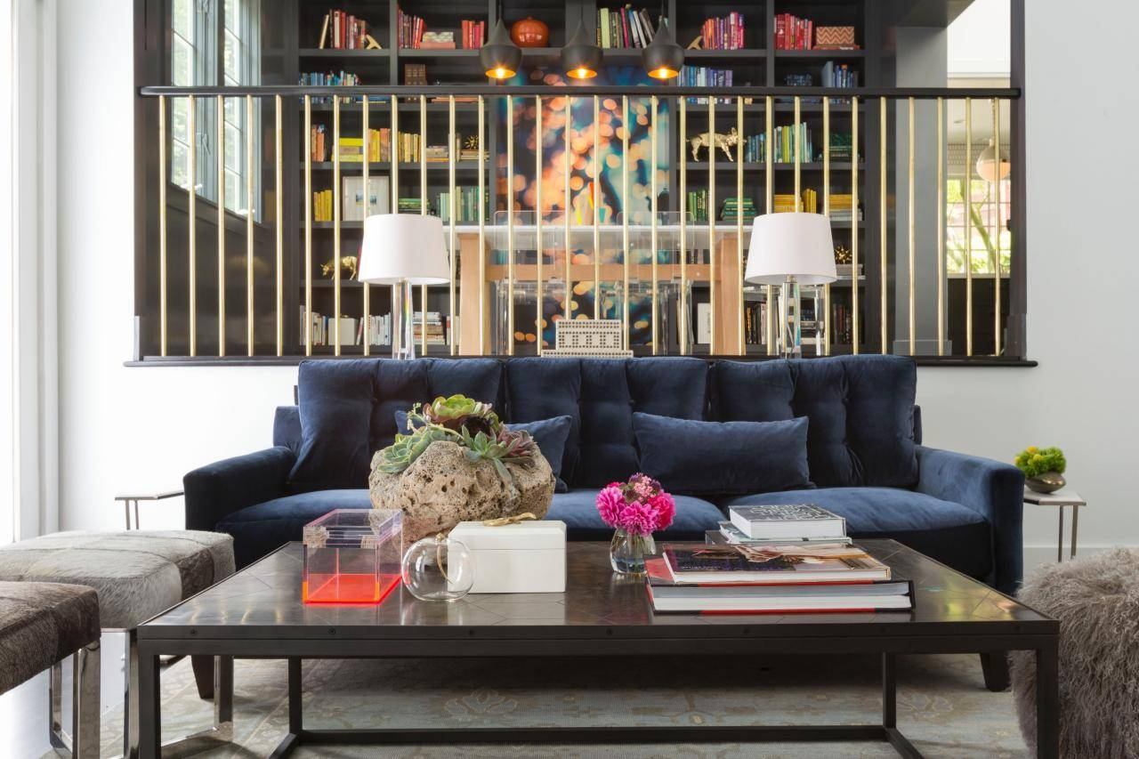 Cool Down Your Design With Blue Velvet Furniture | Hgtv's within Midnight Blue Sofas (Image 3 of 15)