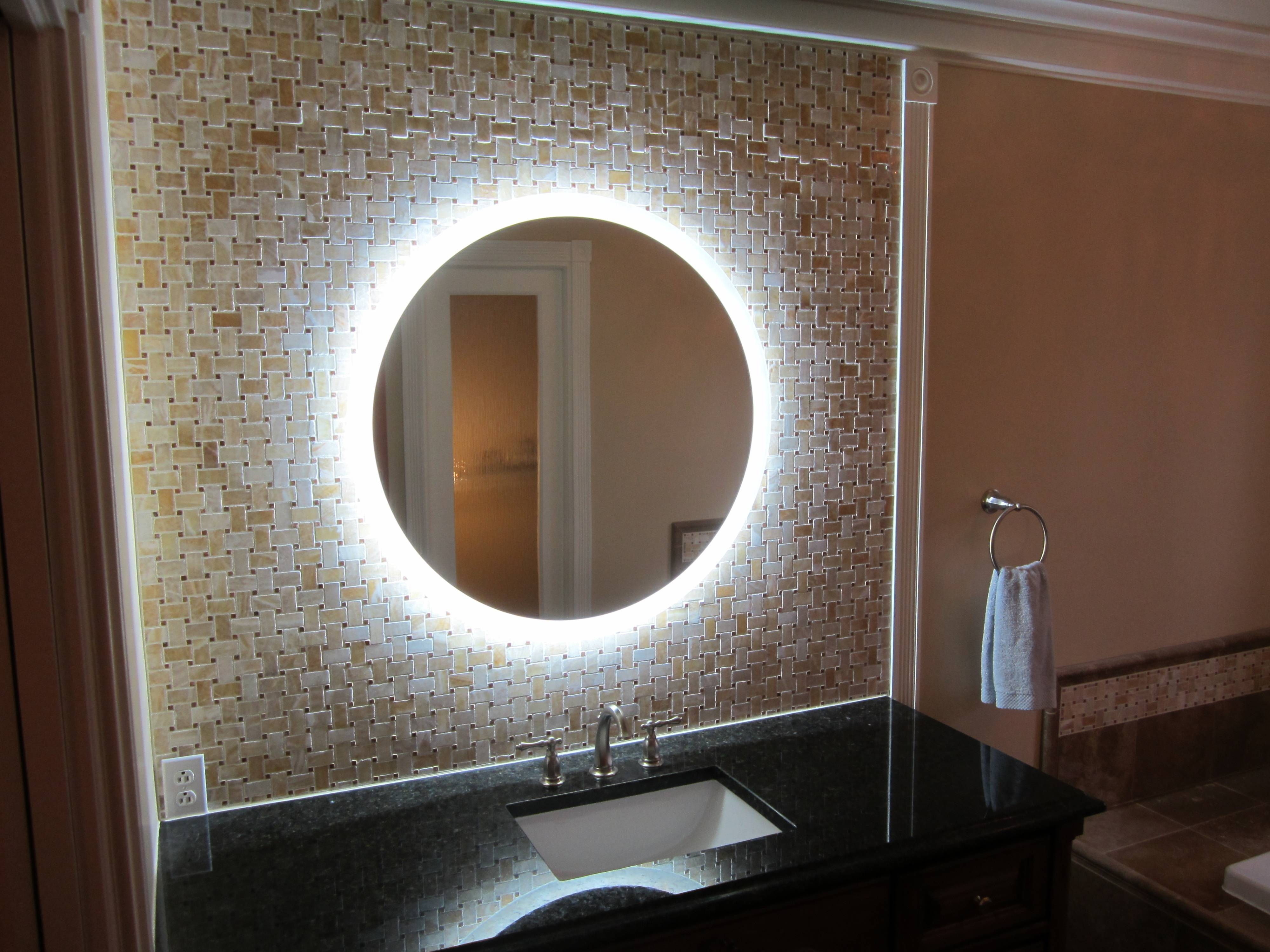 Cool Round Bathroom Wall Mirrors Cool Home Design Wonderful In within Unique Round Mirrors (Image 2 of 15)