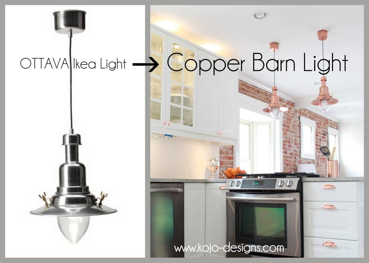 Copper Barn Light Ikea Hack with Ikea Pendent Lights (Image 4 of 15)