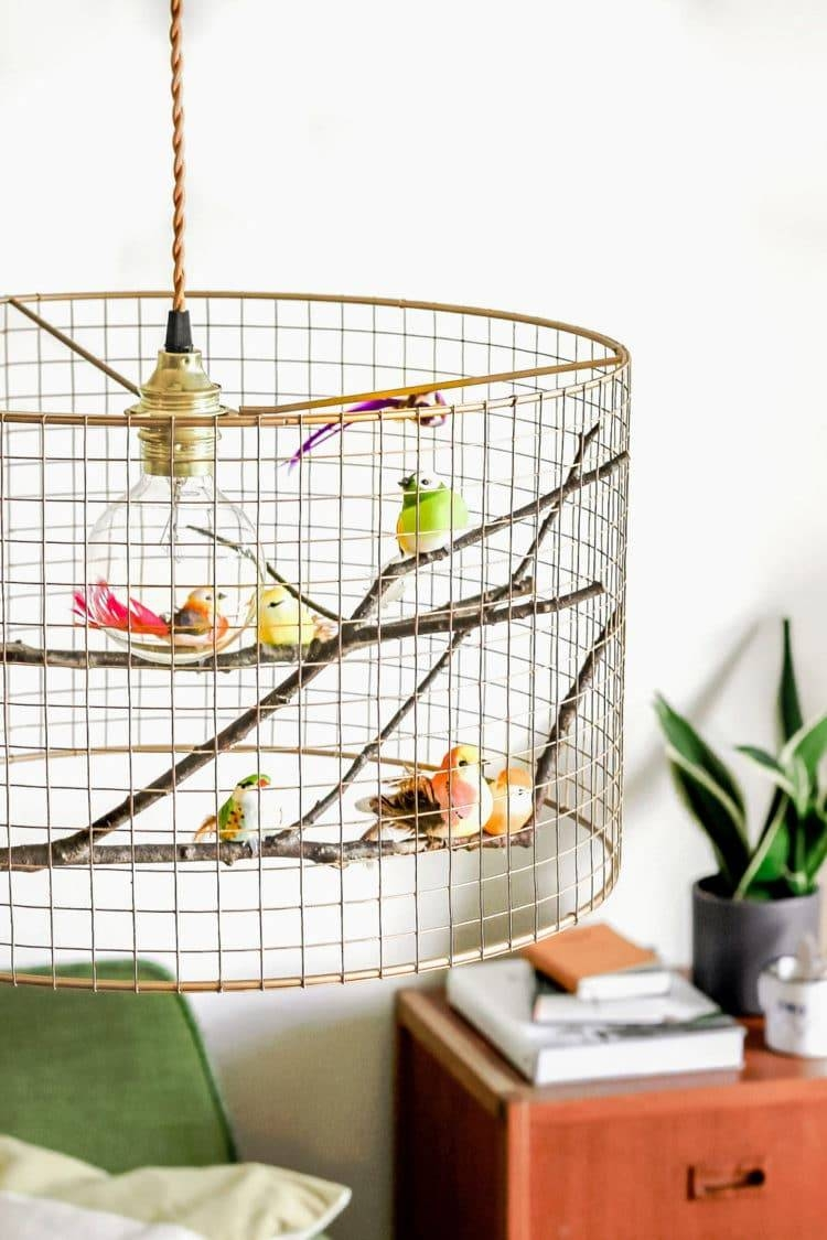 Copper Birdcage Pendant Light Chandelier | Id Lights inside Birdcage Pendant Lights Chandeliers (Image 11 of 15)