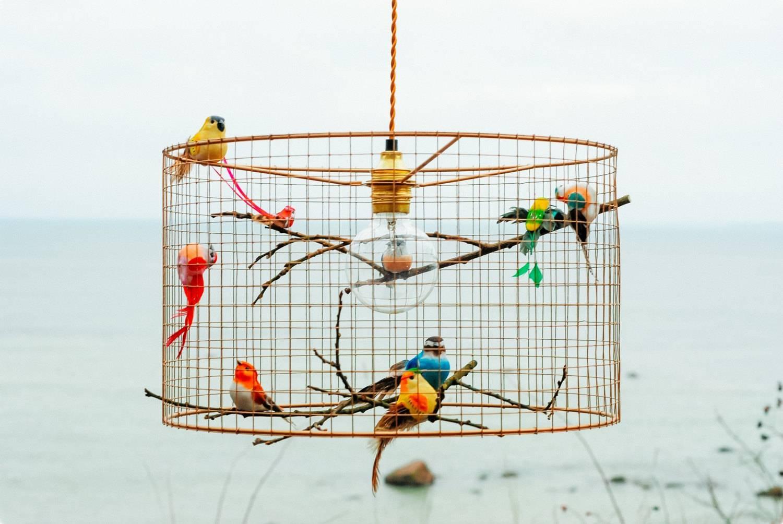 Copper Birdcage Pendant Light Chandelier regarding Etsy Pendant Lights (Image 4 of 15)