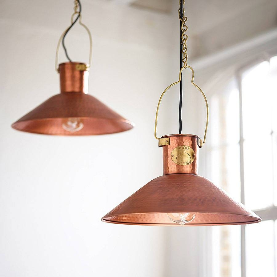 Copper Pendant Lightcountry Lighting | Notonthehighstreet regarding John Lewis Pendant Lights (Image 4 of 15)