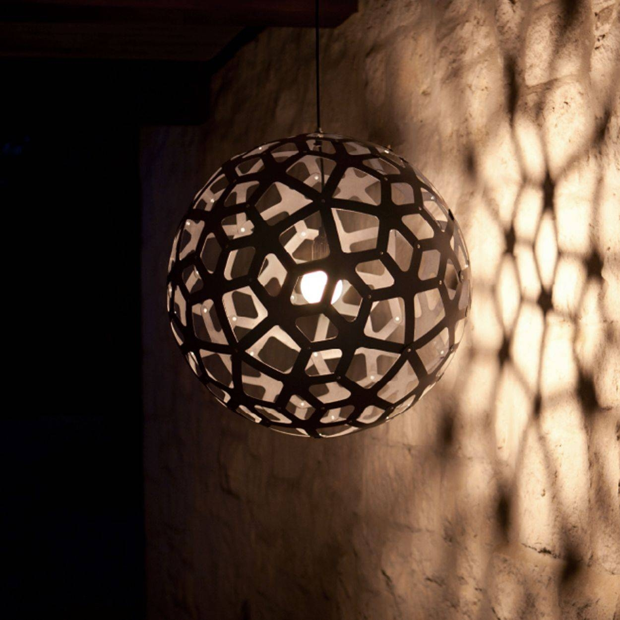 Coral, Contemporary Wooden Light For Dining Room, Living Room throughout Coral Pendant Lights (Image 6 of 15)