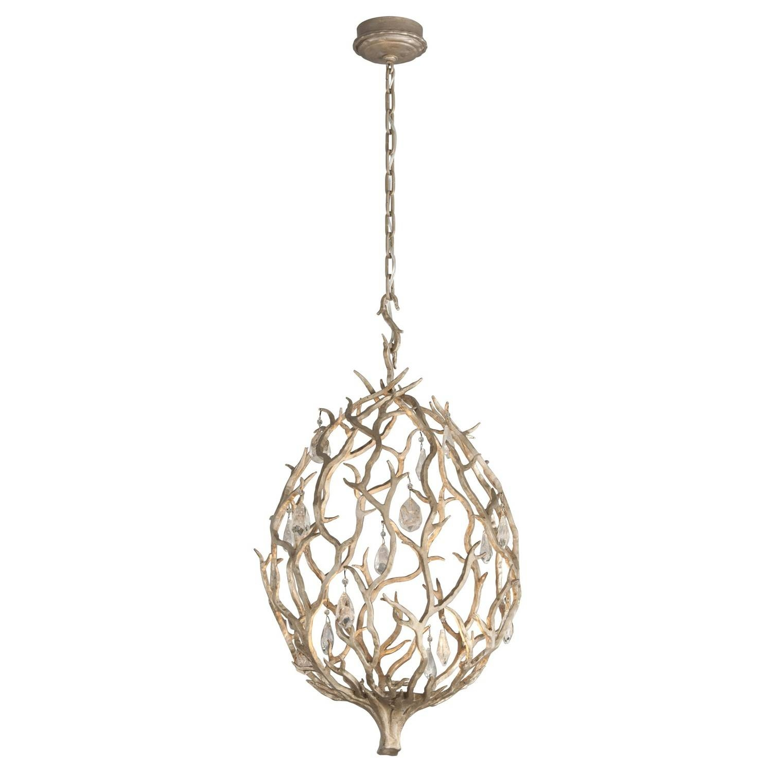 Corbett 205-41 Enchanted 1 Light Small Pendant In Enchanted Silver regarding Corbett Vertigo Small Pendant Lights (Image 3 of 15)